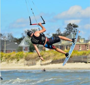 Kiteboarding on the Bay